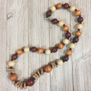 Jewelry - Wood and Cork Bead Natural Necklace